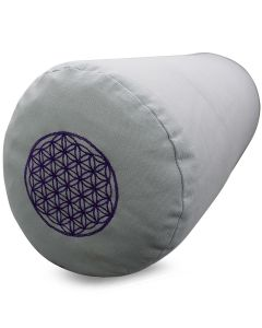 Yoga Bolster Katoenen Canvas - Flower of Life Cool Grijs