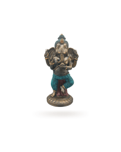 Standing Ganesh Dark Gold and Blue 16x13x32 (2 pieces)