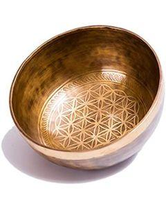 Handmade flower of life singing bowl