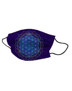 Yogi Mondkapje Flower of Life Blue