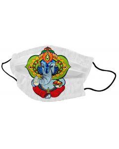 Yogi Mondkapje Ganesh Modak White