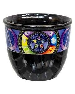 SMUDGE CERAMIC POT PENTACLE-SMALL