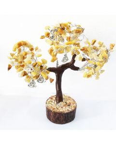 Edelsteenboom met Lachende Boeddha 300 Edelstenen - Reflecting