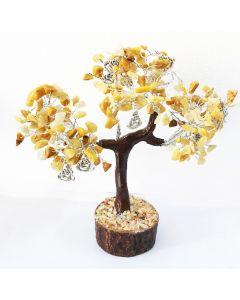 Edelsteenboom met Lachende Boeddha 160 Edelstenen - Reflecting