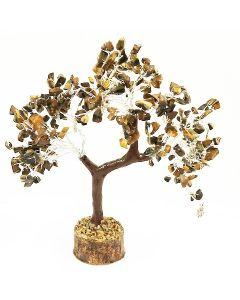 Edelsteenboom met Reiki Hand 300 Edelstenen - Confidential Tiger Eye