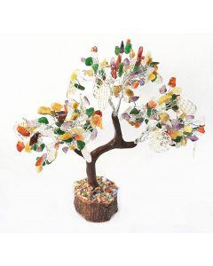 Edelsteenboom Reiki Multisteen met Flower Of Life 160 Edelstenen