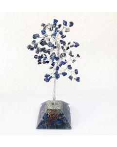 Edelsteenboom met Lapis Lazuli Orgone Pyramide Basis 100 Edelstenen