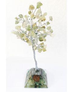 Edelsteenboom met Groen Aventurijn Orgone Pyramide Basis 100 Edelstenen