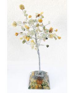 Edelsteenboom met Groen Aventurijn & Gouden Kwarts 100 Edelstenen