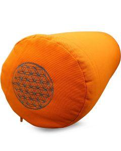 Yoga Bolster Katoenen Twill - Flower of Life Oranje