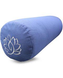 Yoga Bolster Katoenen Twill - Lotus Lichtblauw