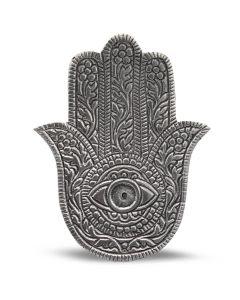 Aluminium Zilveren Antieke Fatima Hand Wierookhouder