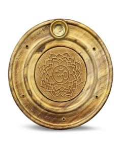 Wooden Incense Holder Crown Chakra 10 cm