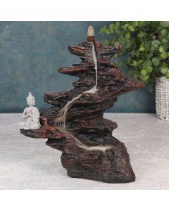 Boeddha op Stenen Backflow Wierookhouder