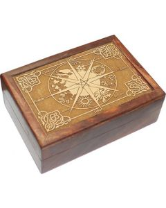Pagan Calender engraved in wooden box