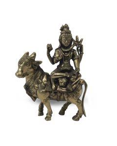 Shiva on cow 21 cm