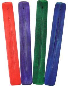 Houten Plankje Wierookbrander in 4 Kleuren