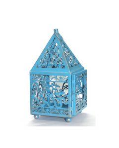 LANTERN (NO GLASS) BLUE-GANESHA