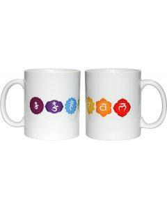 Koffiemok 7 Chakras Wit