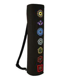 Yoga Mat Bag 7 Chakras Black