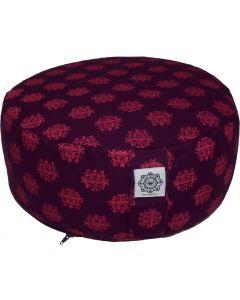 Meditation Cushion Purple & Pink Dyed Cotton Canvas