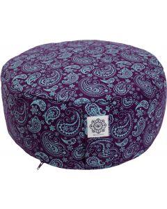 Meditation Cushion Turquoise/Purple Dyed Cotton Canvas