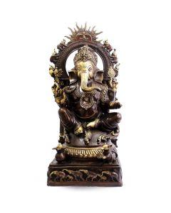 Ganesh Sitting W/ Sun & Elephant  Ring