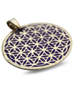 PENDANT-FLOWER OF LIFE PURPLE