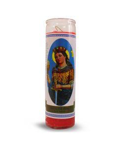 Labelled candle  Santa Barbara