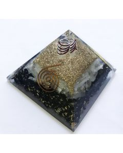 Orgoniet Pyramide Seleniet en Zwarte Tourmalijn