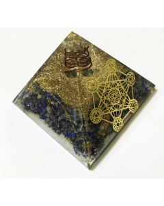 Orgoniet Pyramide Lapis Lazuli met Metatron