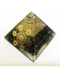 Orgoniet Pyramide Zwarte Tourmalijn met Metatron