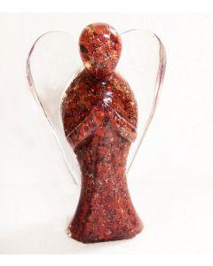 Orgone angel figurines-Red Jasper 20cm