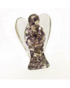 Orgone angel figurines-Amethyst 7cm