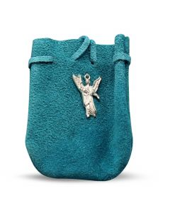 """POUCH - SUEDE  ROUNDED WITH STRAP TQ RAPHAEL 3.25"""" x 2.75"""""""