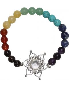 7 Chakra Bracelet with lotus flower