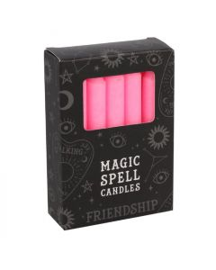 Magic Spell Kaarsen 'Friendship' (Roze - 12 stuks)