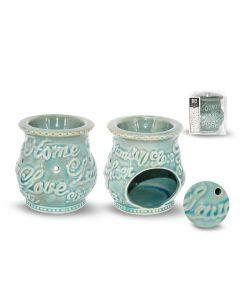 Home Love - Blauw keramische Aromabrander 10 cm