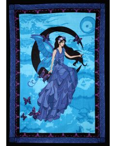 """COTTON TAPESTRY MOON FAIRY 52 x 76"""" //"""
