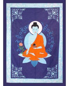 "COTTON TAPESTRY  MEDICINE BUDDHA 52 x 76"""