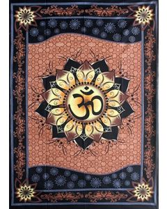 "Tapestry Om Lotus 58""x 82"""
