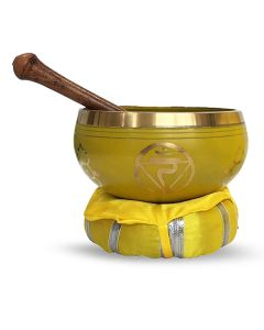Brass Singing Bowl with stick & Cusion  10 cm Solar Plexus C