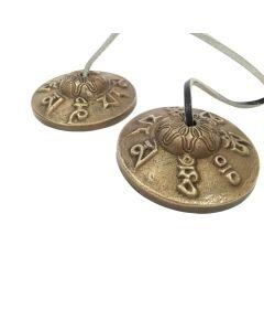 Ting-Sa Bell Dragon/Tibetan Signs Small