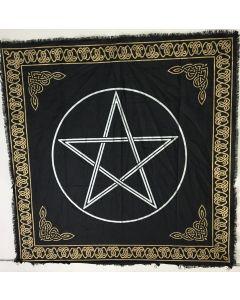 "Cotton Altar cloth 24""x24""  PENTAGRAM"