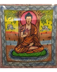 Cotton Tapestry Painted Buddha 210x240cms