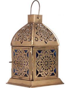 Iron & Glass Lantern  MANDALA  6.25''