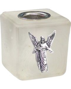GLASS CUBE MINI CANDLE HOLDER- FROSTED-GABRIEL