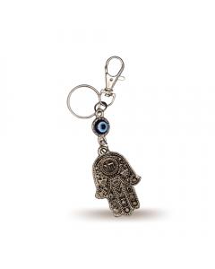 Key Chain with Evil Eye and Fatima Hand