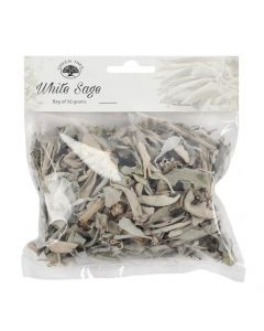 GREEN TREE WHITE SAGE LEAVES  BAGS OF 50 GRAM