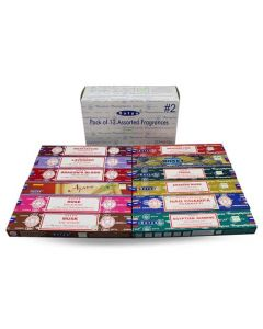 Satya Assorted Pack 2 Incense (12 boxes) 15 grams